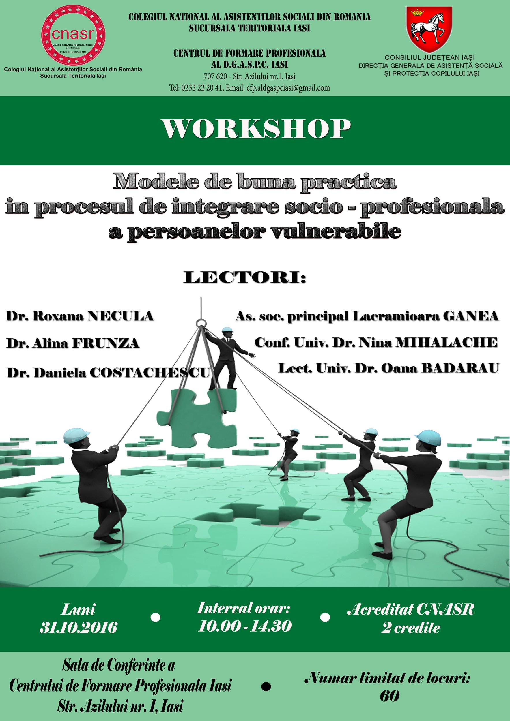 Modele de buna practica in procesul de integrare sociu - profesional a persoanelor vulnerabile