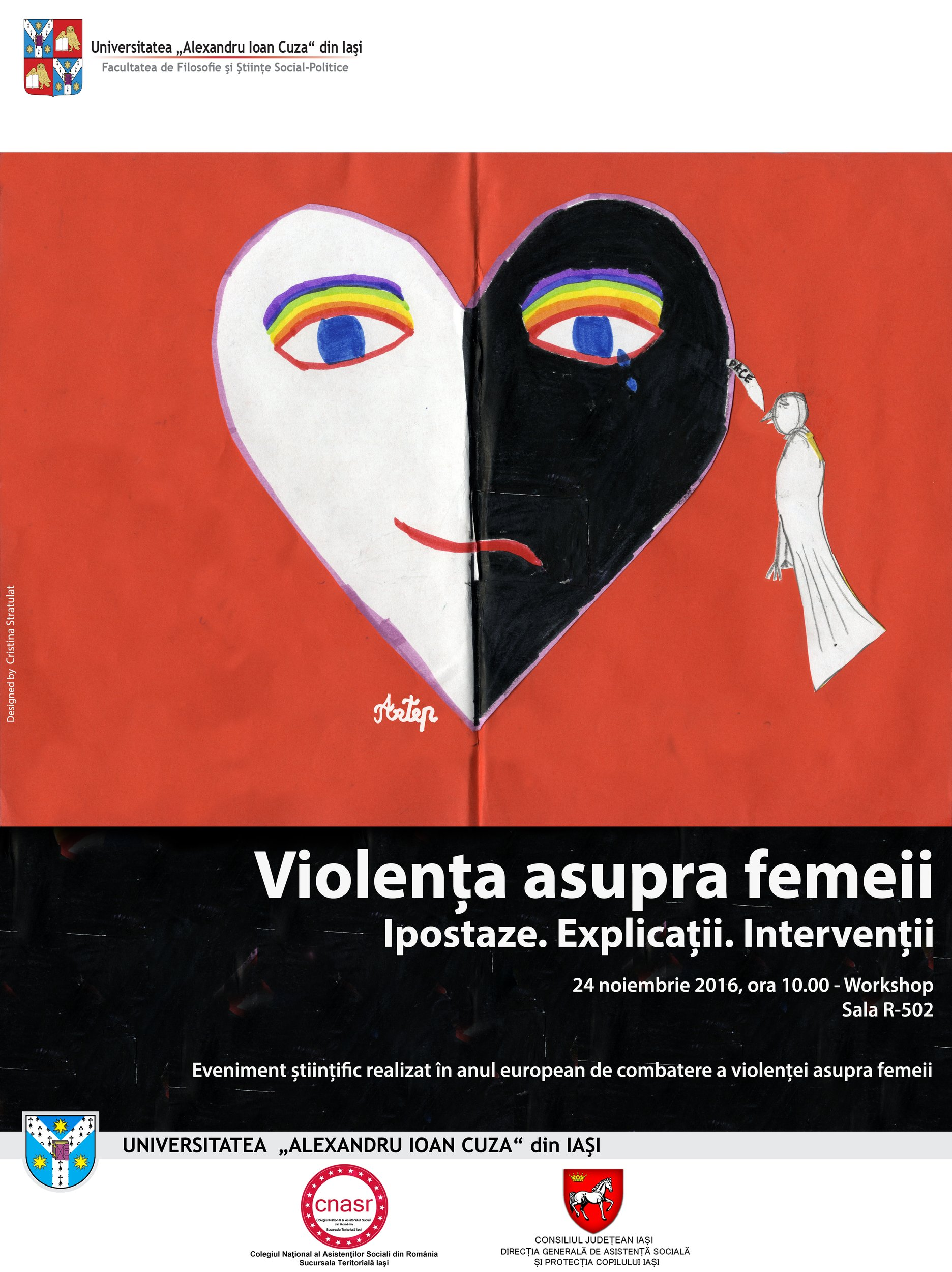 """Invitaţie Workshop  """"Violenţa asupra femeii. Ipostaze. Explicaţii. Intervenţii"""""""