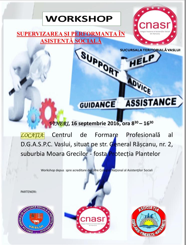 Workshop supervizarea si performanta in asistenta sociala