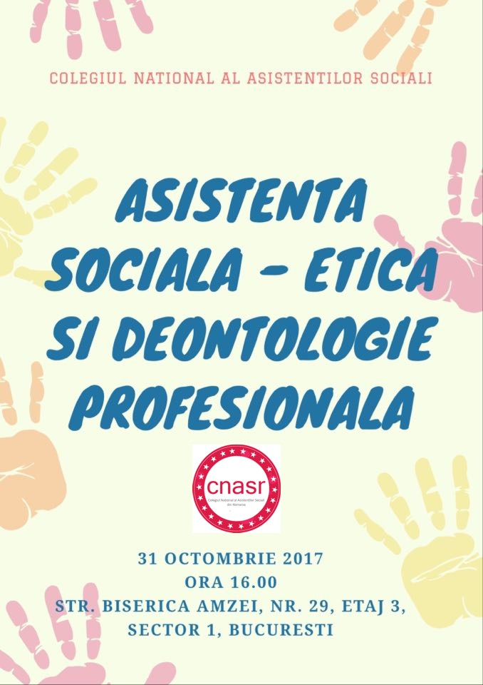 "Invitatie - ""DIALOGURI"" - dezbaterea ""Asistenta sociala – etica si deontologie profesionala"""