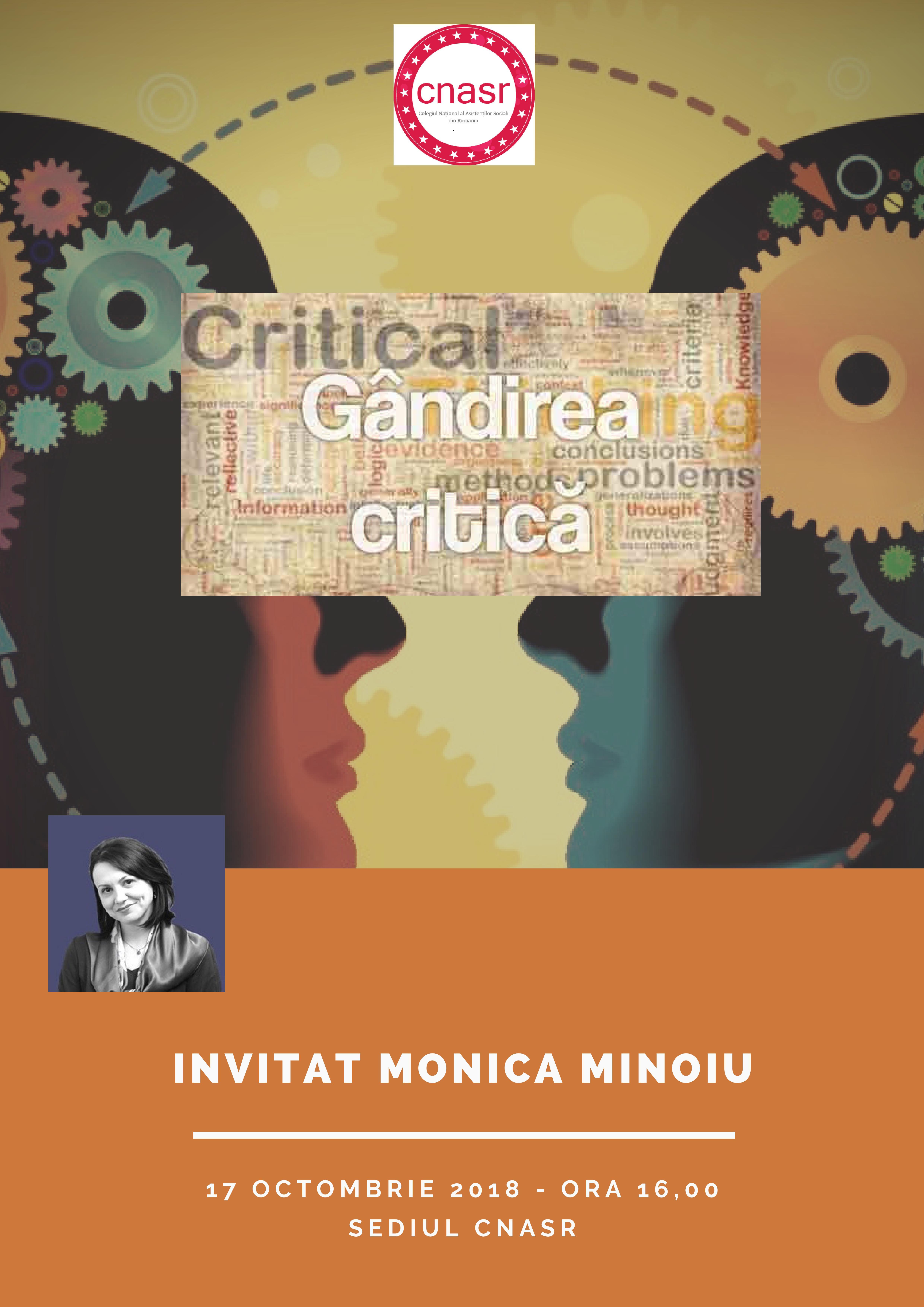 """Întâlnire DIALOGURI- """"Gândirea critică în contextul asistenței sociale"""", 17.10.2018"""