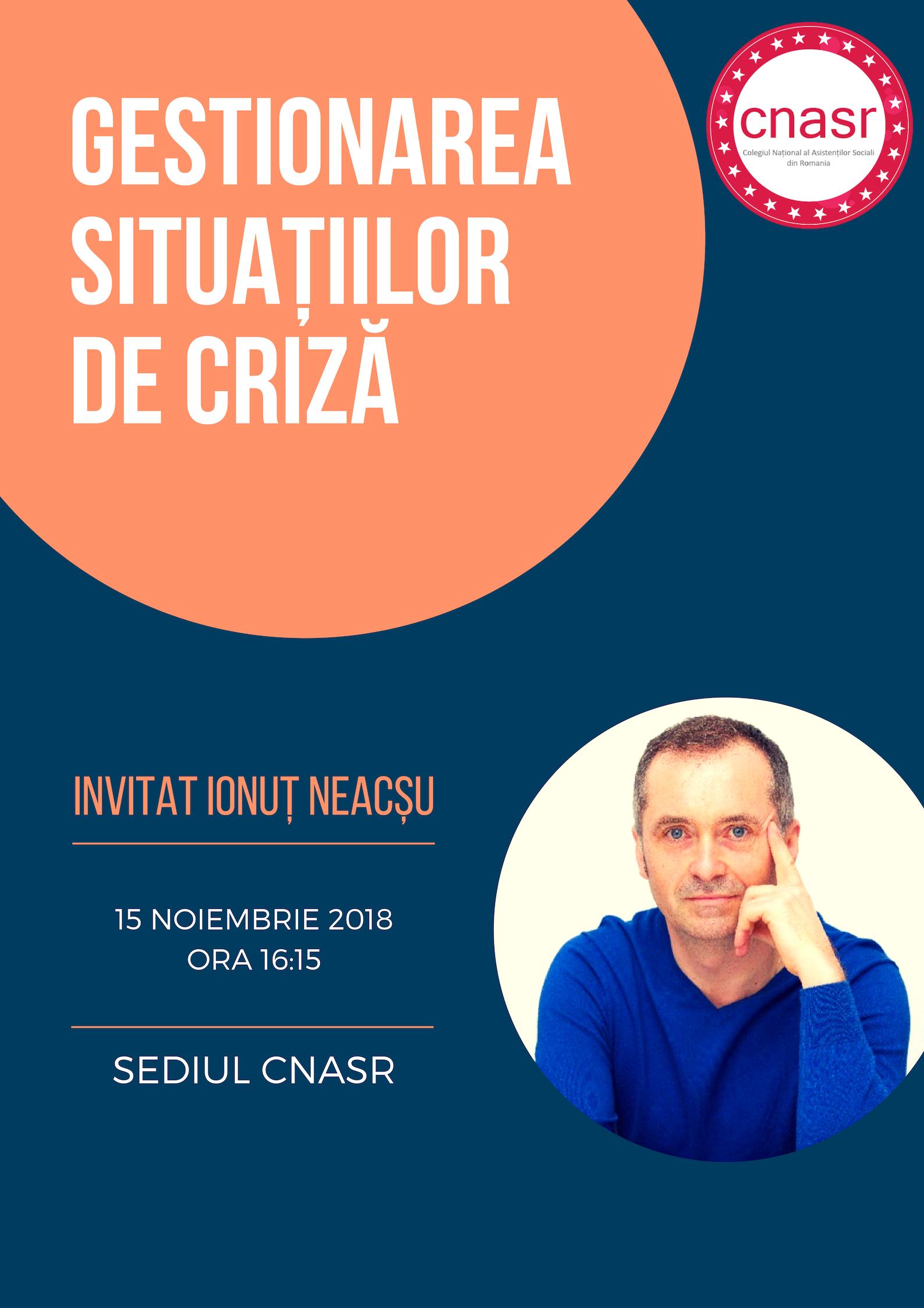 Invitatie 15 noiembrie Gestionarea situatiilor de criza