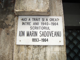 Placă memorială Ion Marin Sadoveanu