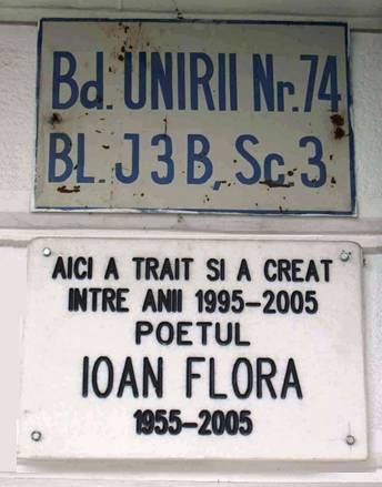 Placă memorială Ioan Flora
